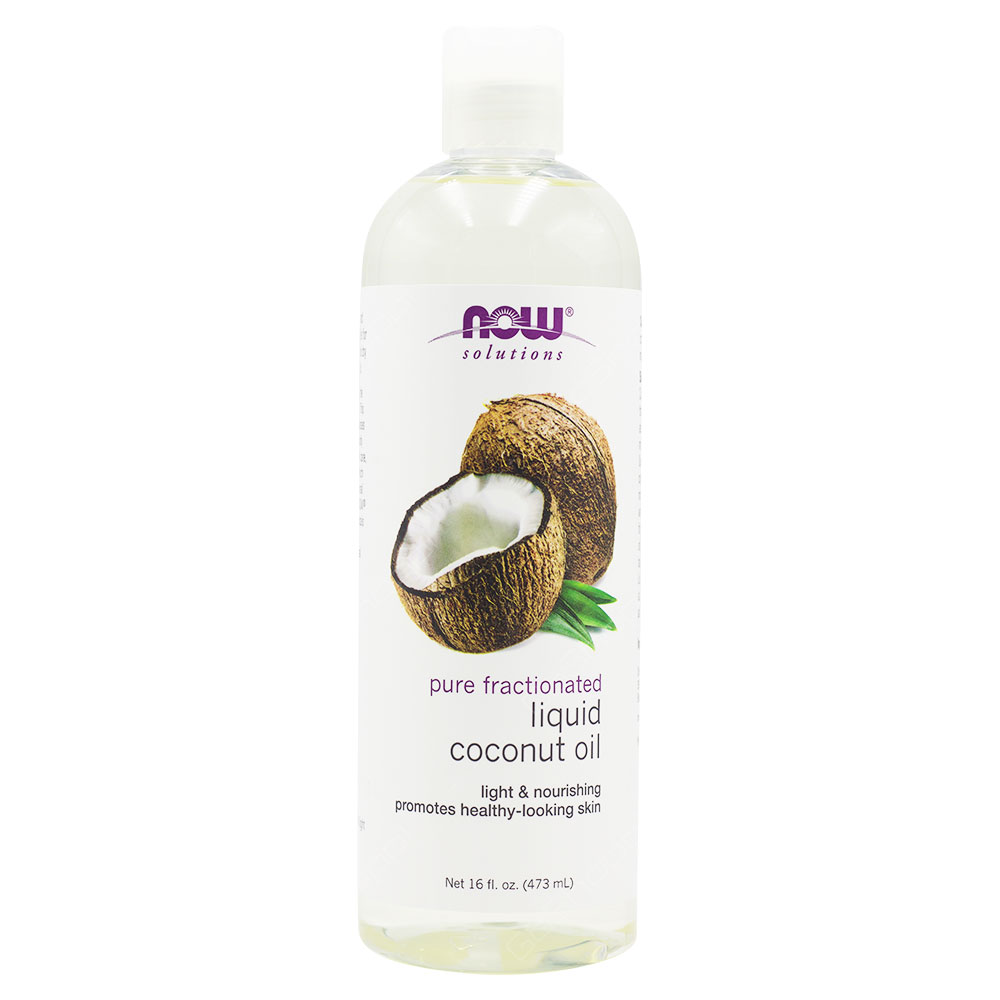 Now Solutions Pure Fractionated Liquid Coconut Oil 473ml