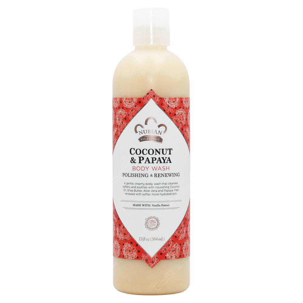 Nubian Heritage Coconut & Papaya Body Wash 384ml