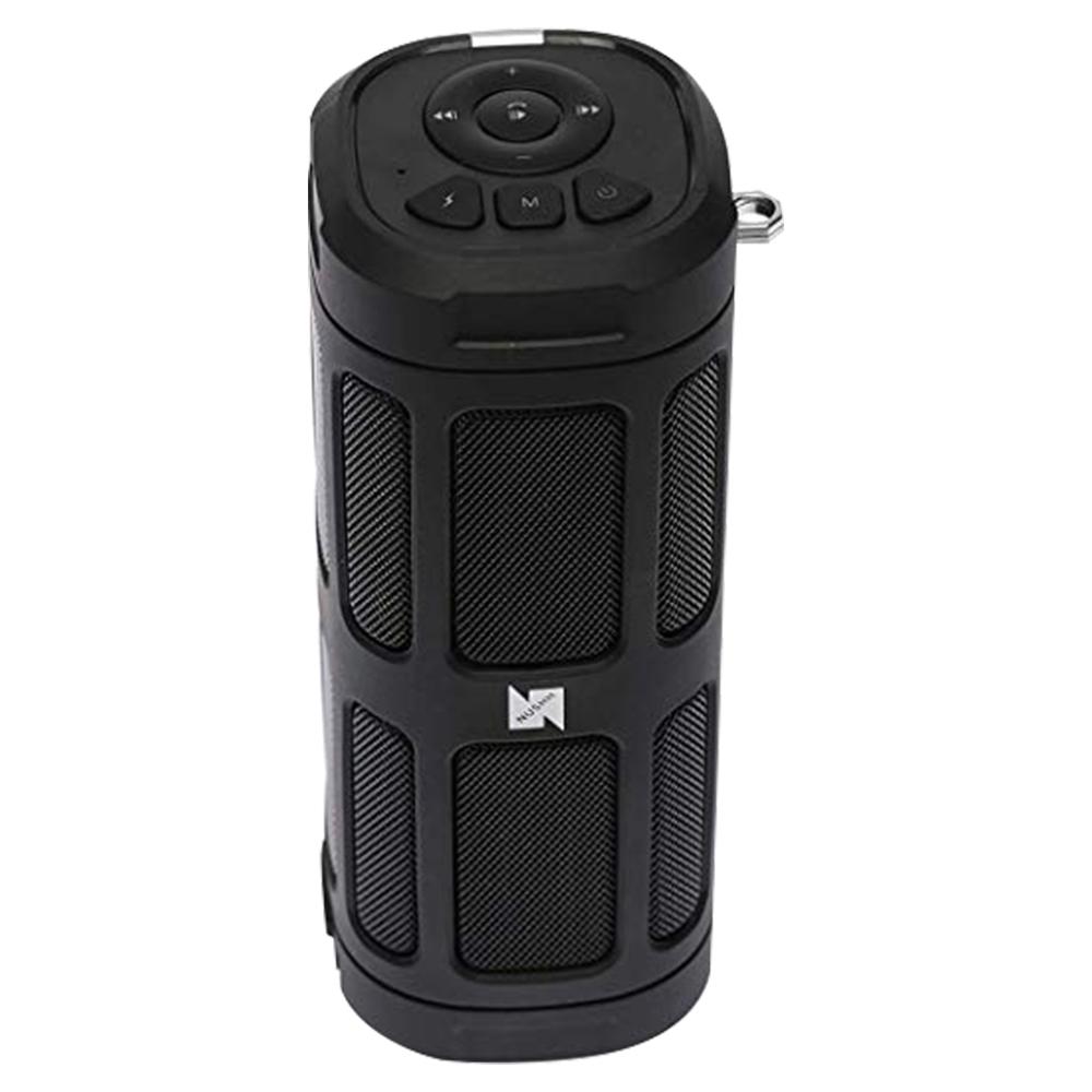 Nushh Portable Splashproof Wireless Bluetooth Speaker with Bike Mount - Black - NSPBTBL100