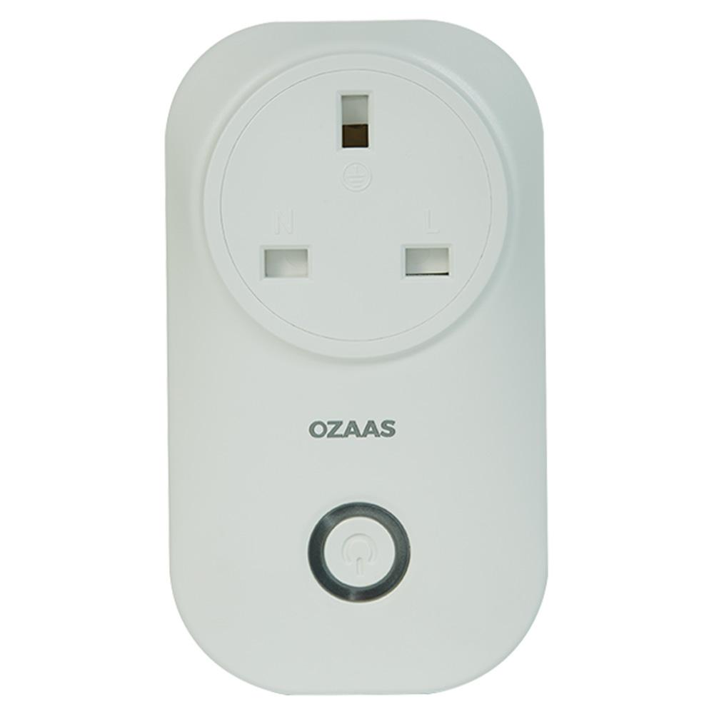 Ozaas Wi-Fi Smart Plug UK - White - OOZ-D1XPG-UK