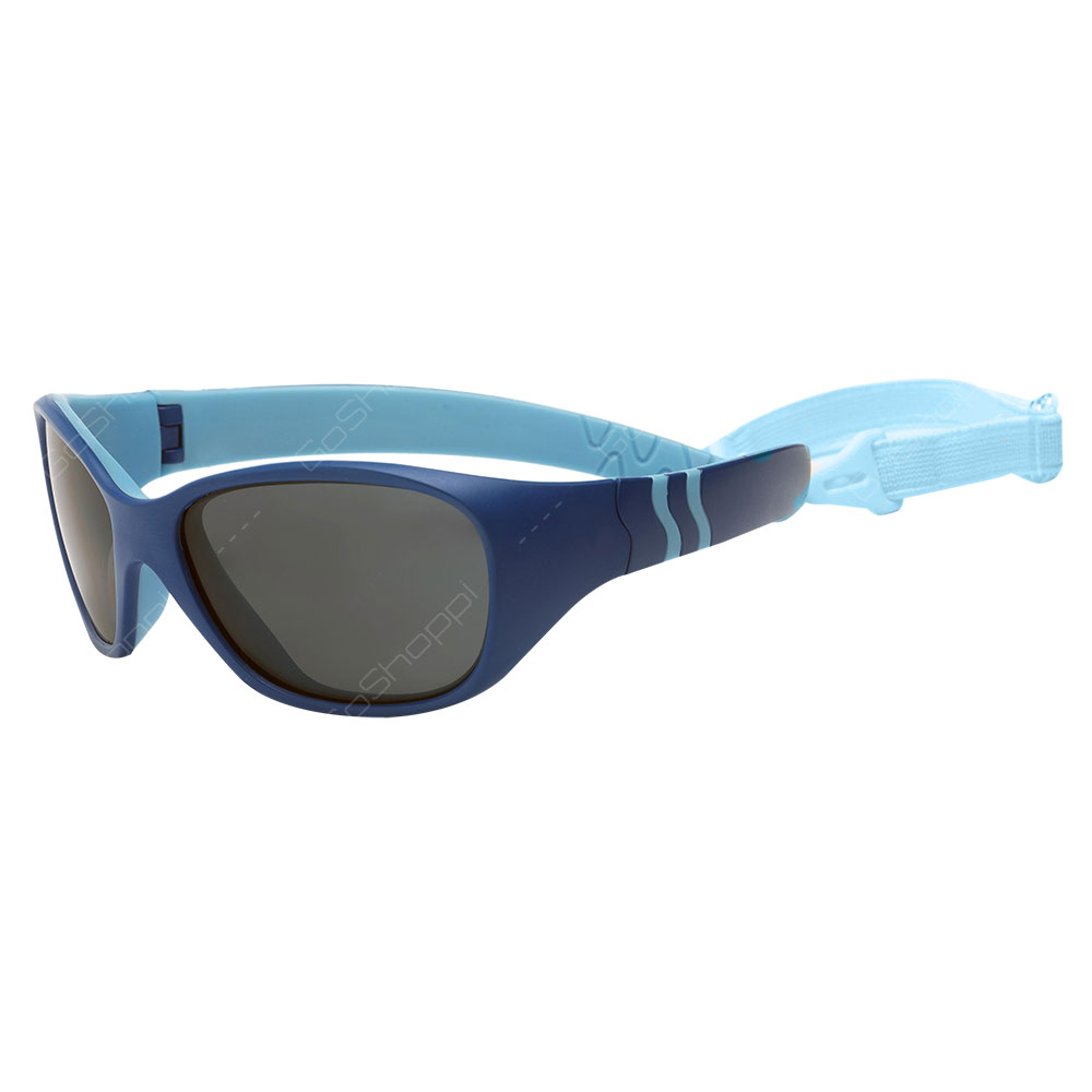 Real Kids Shades Adventure Polarized Sunglasses For Unisex Age 4 to 6 With Removable Band - Royal Blue