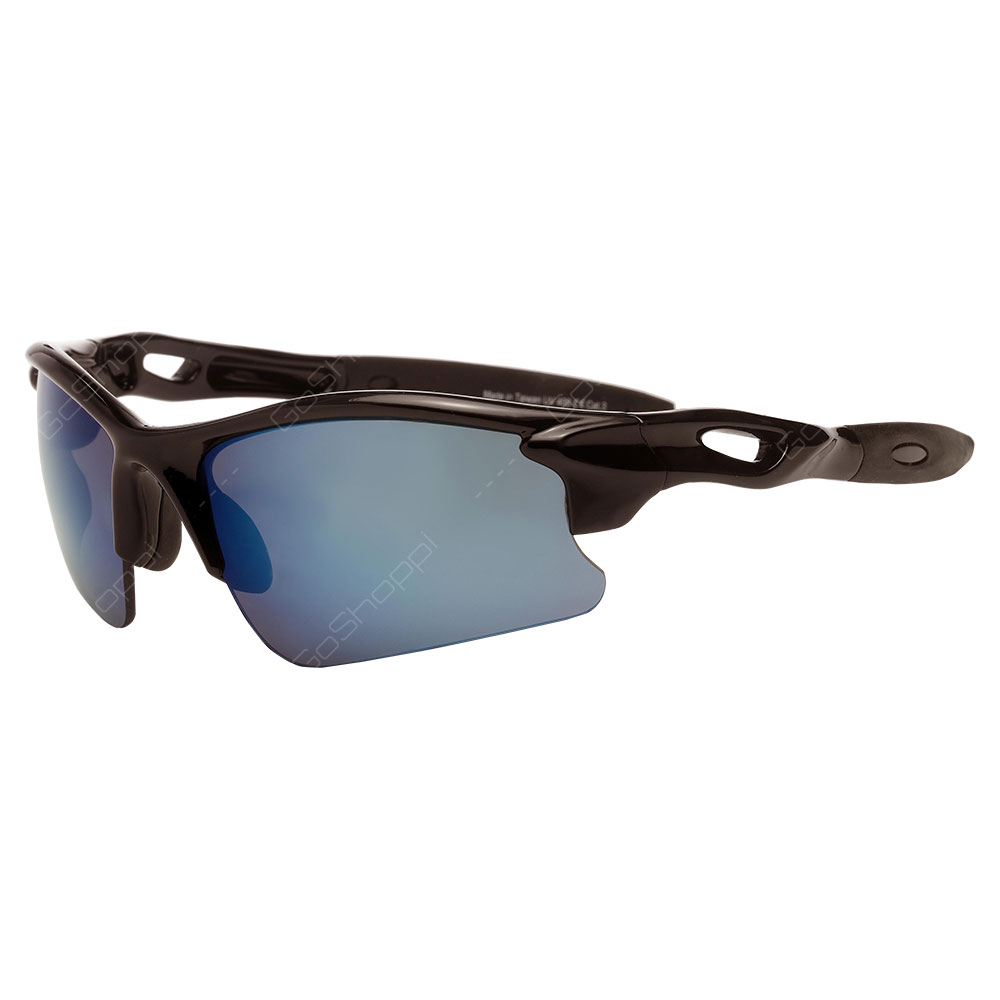 Real Kids Shades Blaze PC Sunglasses For Unisex Above 7 Years - Black