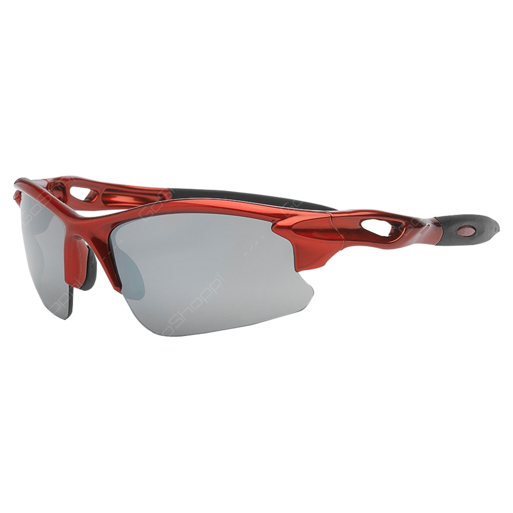 Real Kids Shades Blaze PC Sunglasses For Unisex Above 7 Years - Red