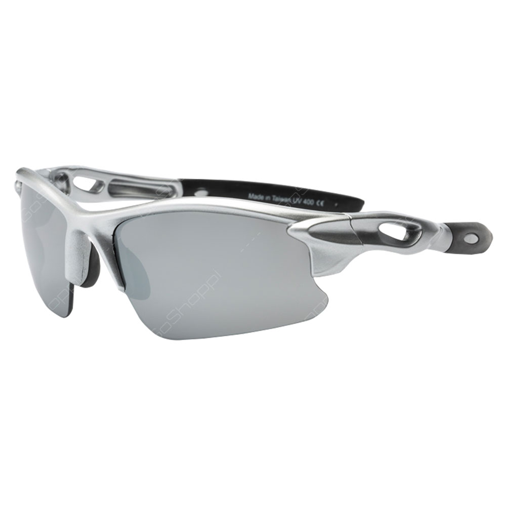Real Kids Shades Blaze PC Sunglasses For Unisex Above 7 Years - Silver