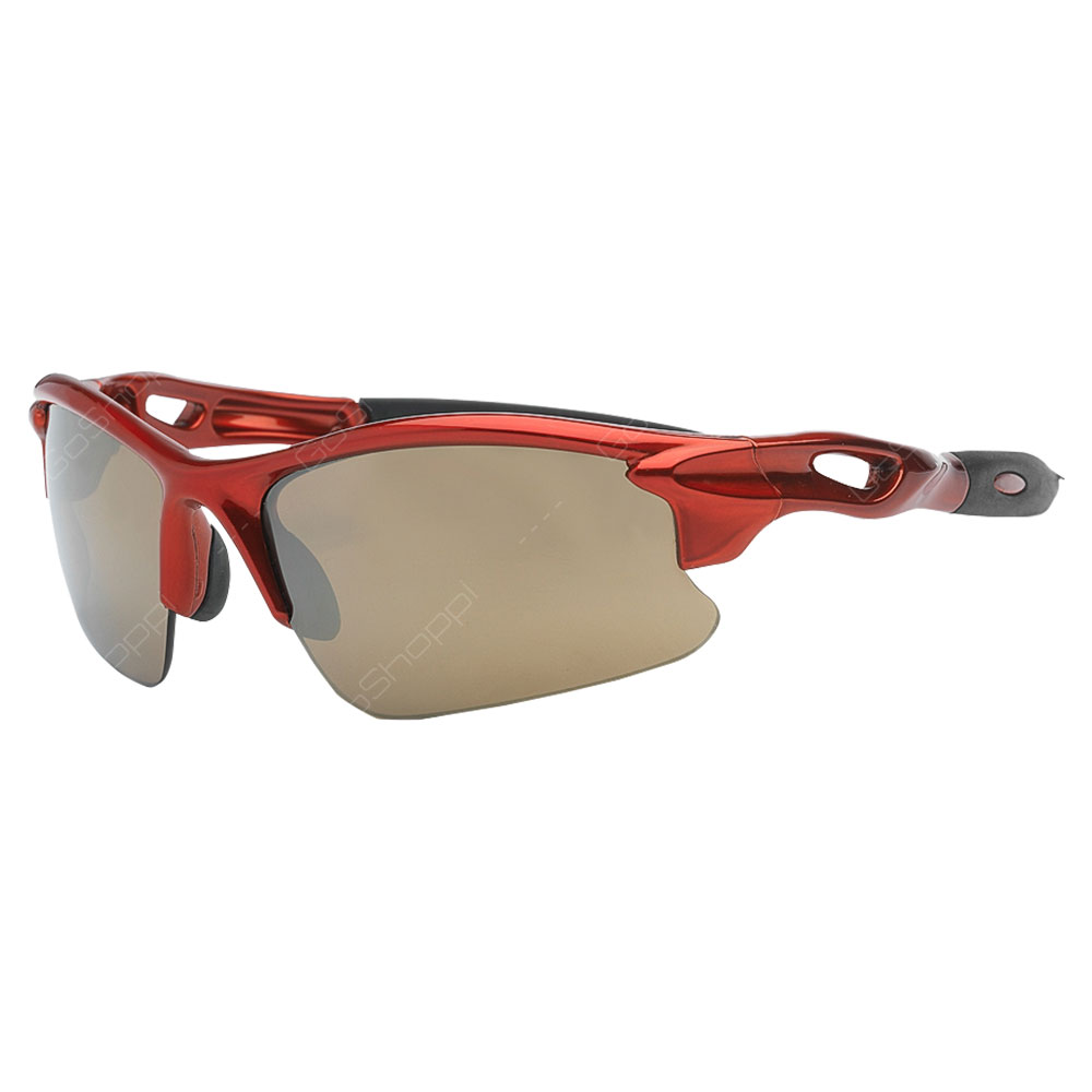 Real Kids Shades Blaze Polarized Sunglasses For Unisex Above 7 Years - Red
