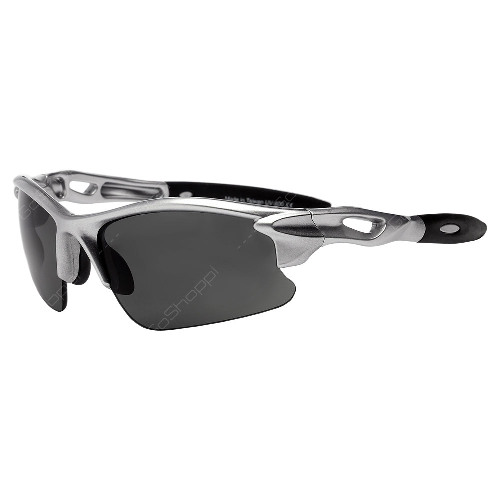 Real Kids Shades Blaze Polarized Sunglasses For Unisex Above 7 Years - Silver