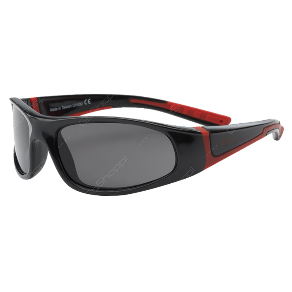 Real Kids Shades Bolt PC Sunglasses For Boys Age 4 to 6 - Black Red