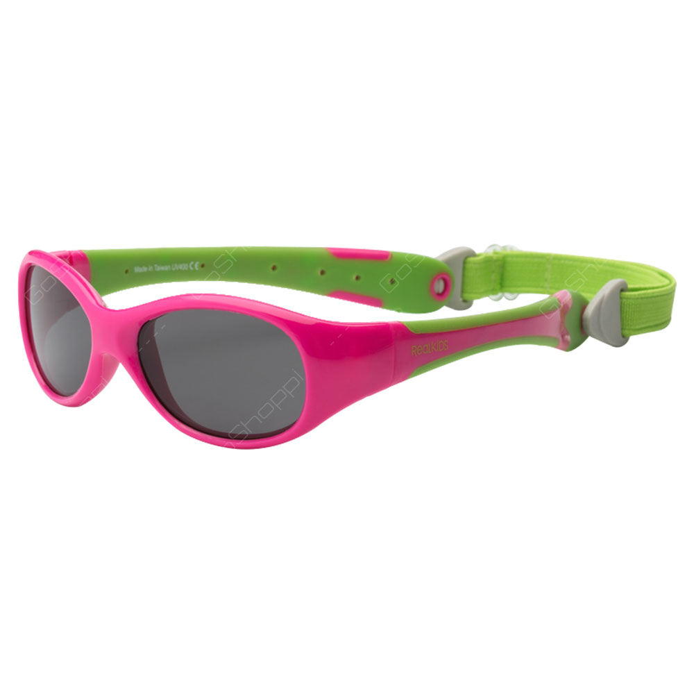 Real Kids Shades Explorer PC Sunglasses For Toddlers With Removable Band - Cherry Pink