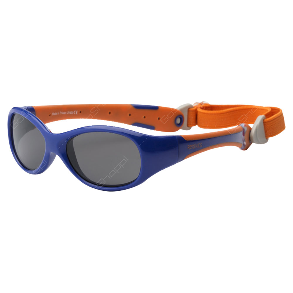 Real Kids Shades Explorer PC Sunglasses For Toddlers With Removable Band - Navy
