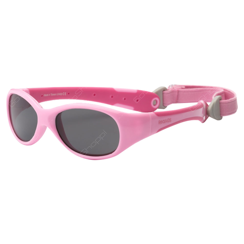 Real Kids Shades Explorer PC Sunglasses For Toddlers With Removable Band - Pink