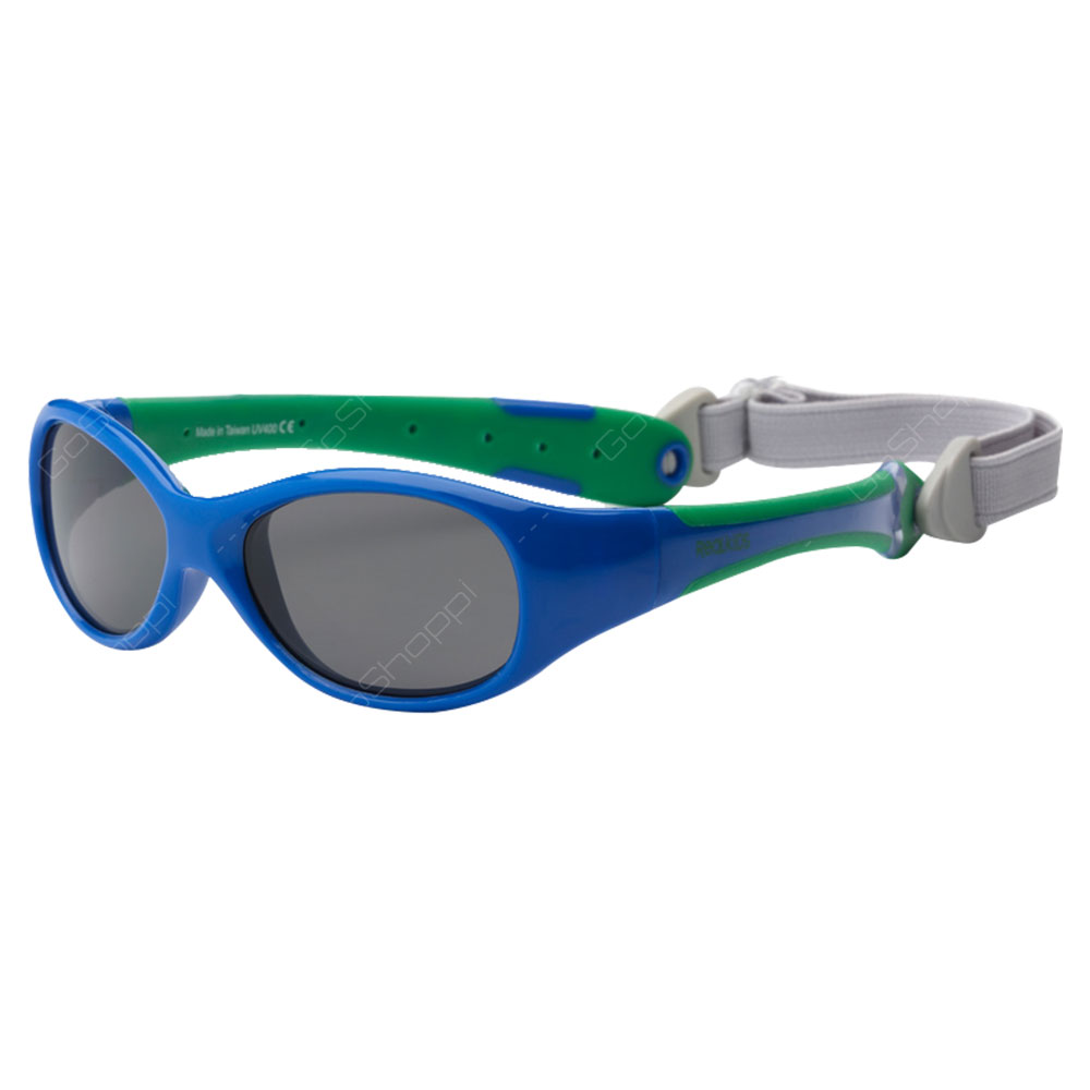 Real Kids Shades Explorer PC Sunglasses For Toddlers With Removable Band - Royal