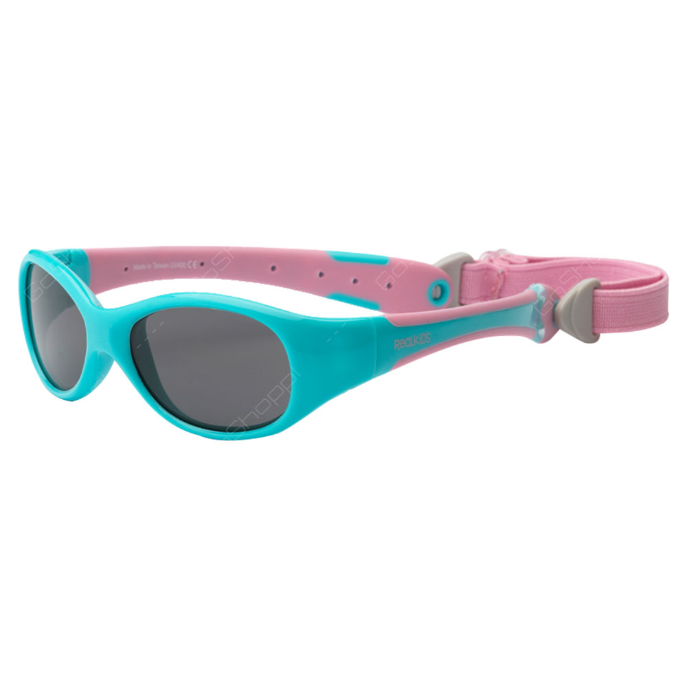 Real Kids Shades Explorer Polarized Sunglasses For Toddlers With Removable Band - Aqua