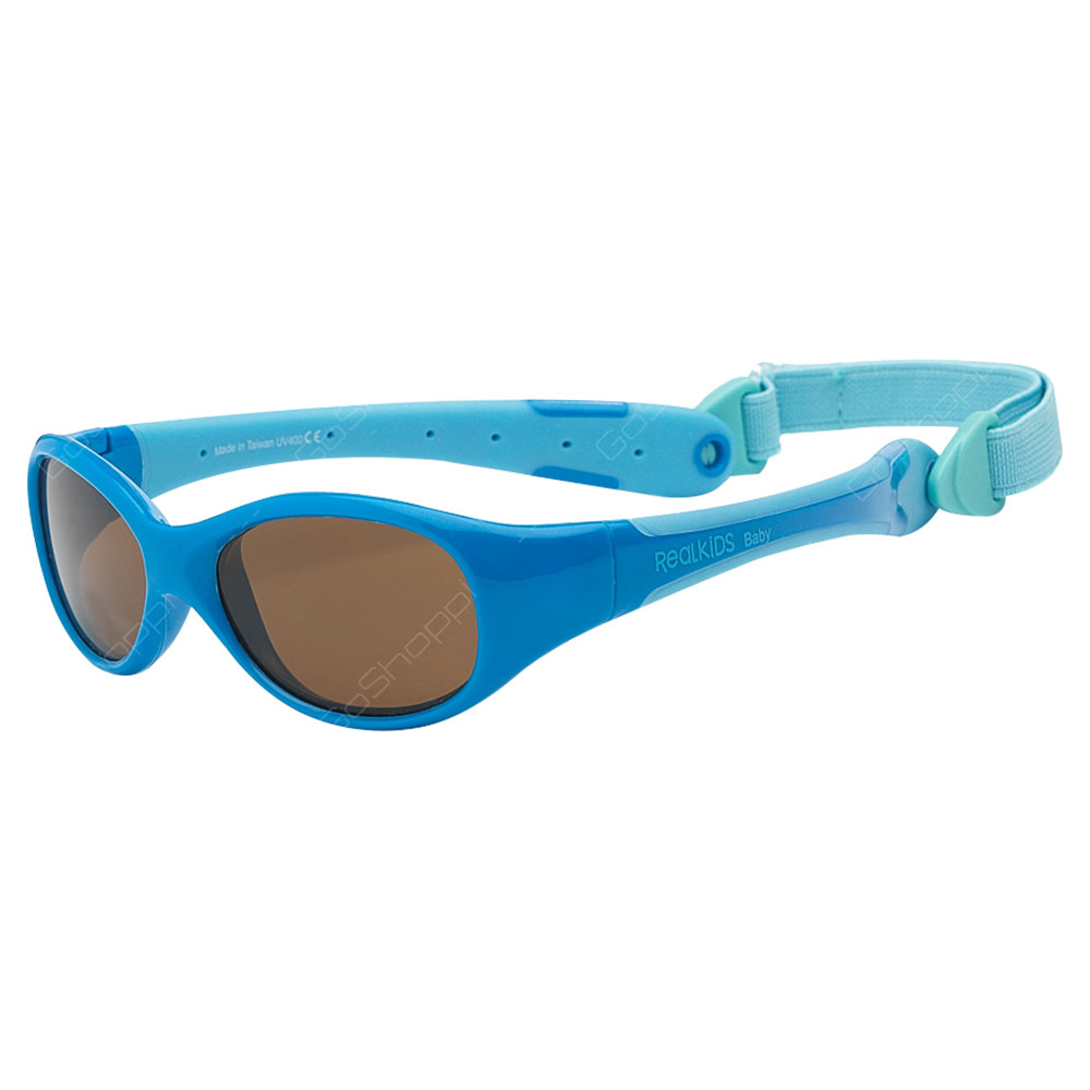 Real Kids Shades Explorer Polarized Sunglasses For Toddlers With Removable Band - Blue