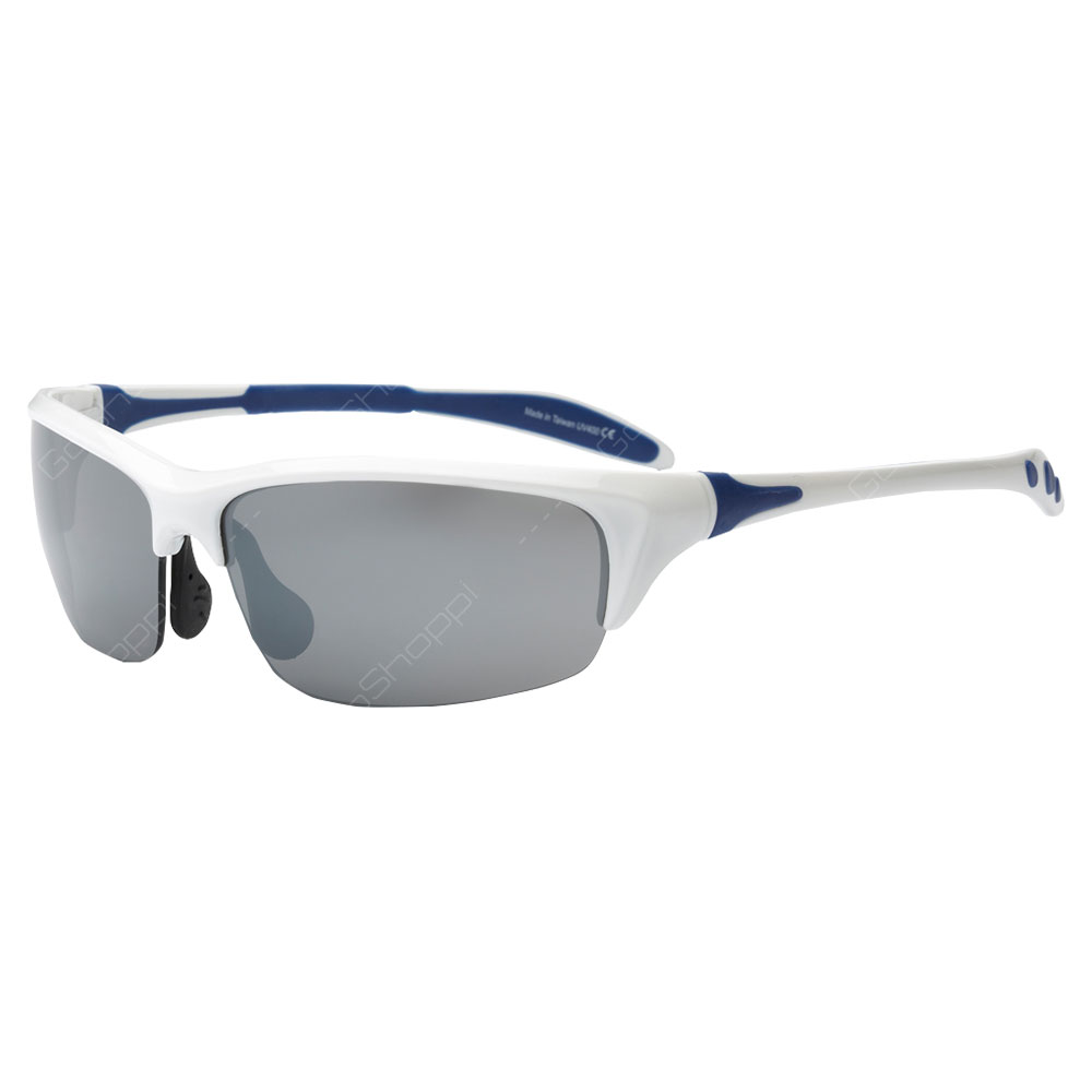 Real Shades Blade PC Sunglasses For Adults - White