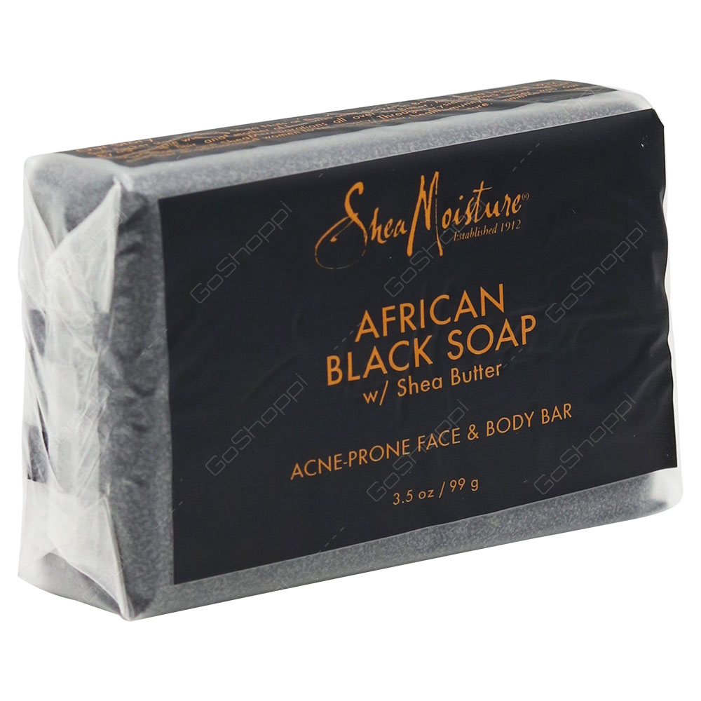 Shea Moisture African Black Soap Acne Prone Face & Body Bar 99g