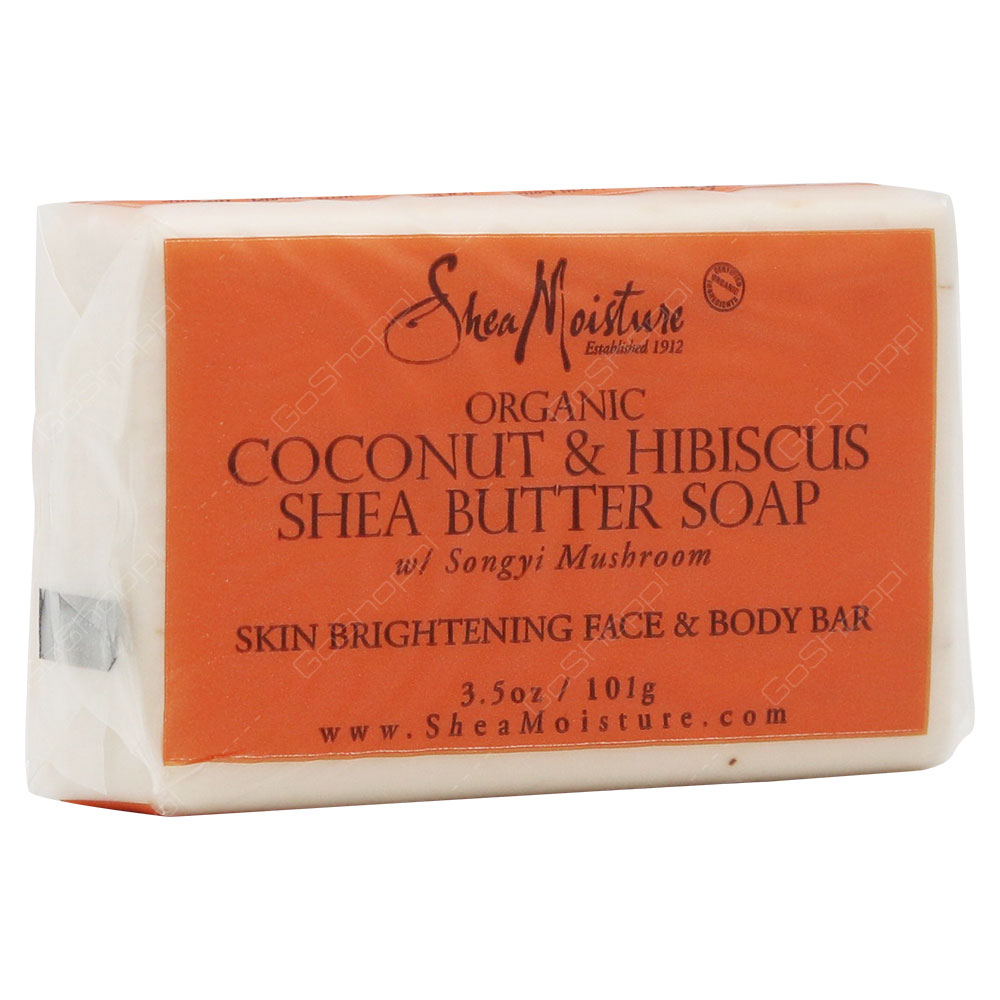 Shea Moisture Organic Coconut & Hibiscus Shea Butter Soap 101g