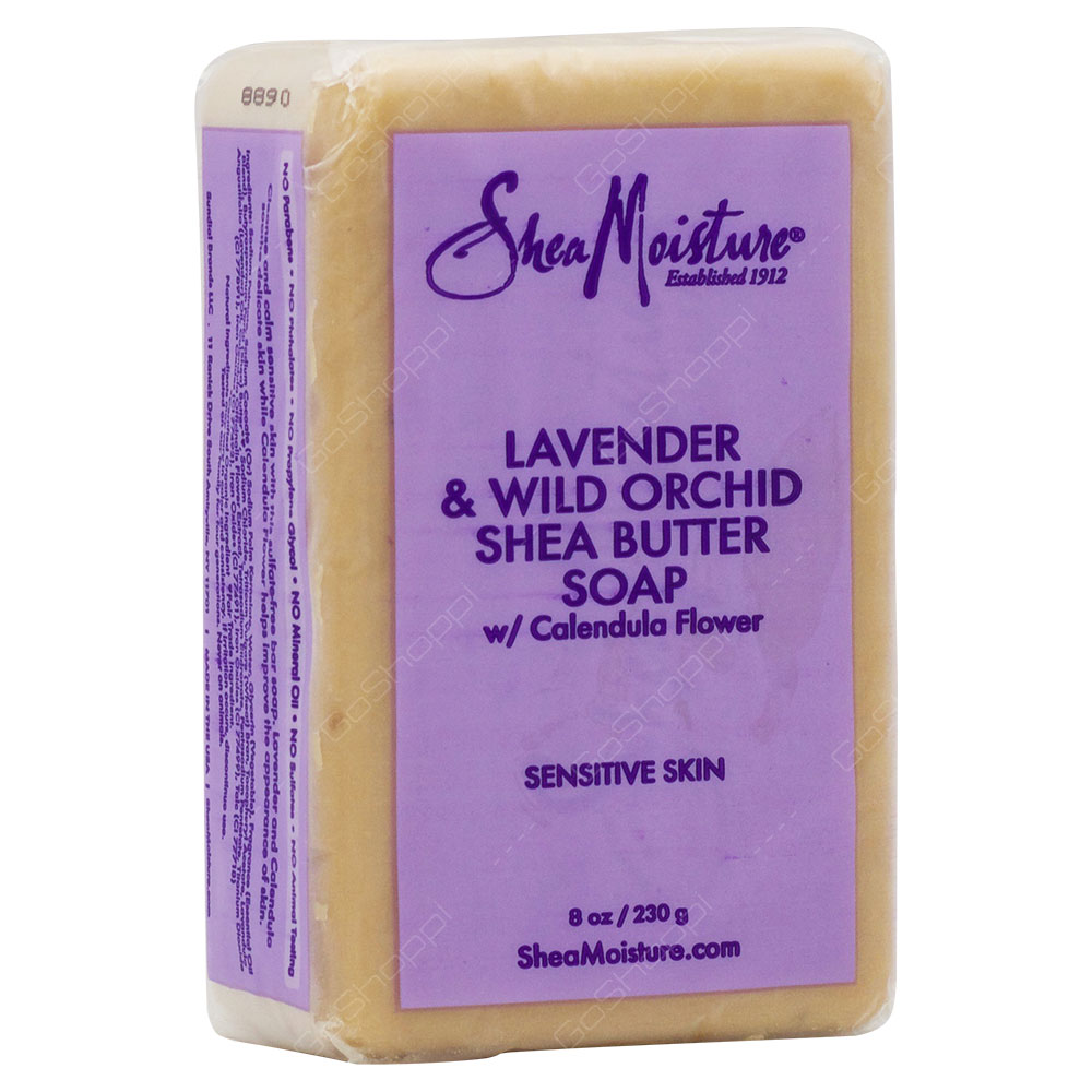 Shea Moisture Organic Lavender & Wild Orchid Shea Butter Soap 230g