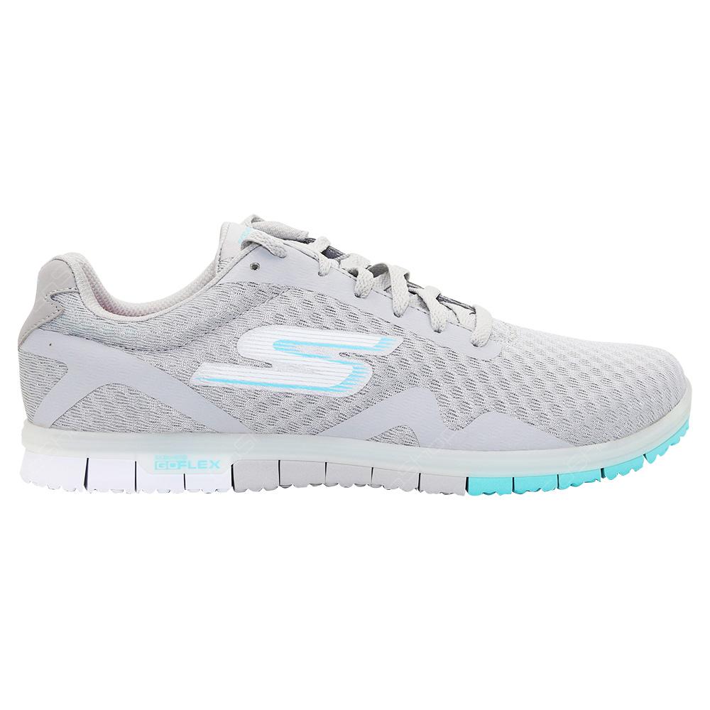 ea2015bf43e7 Skechers Go Mini Flex - Speedy Walking Shoes For Women - Light Grey - Blue -