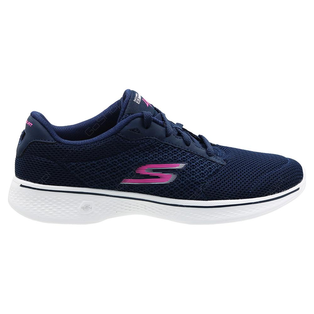 089844dee6ec Skechers Go Walk 4-Incite Walking Shoes For Women - Navy - Pink - 14174NVPK