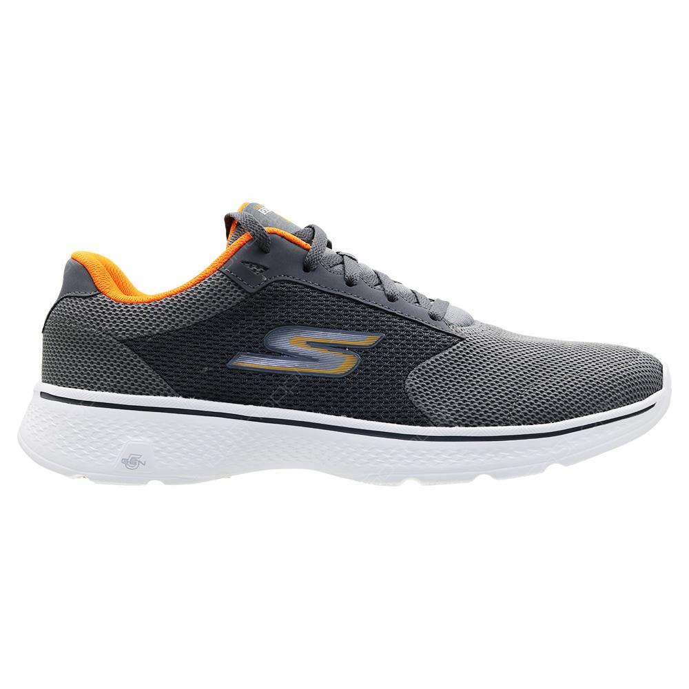 af45f011b925 Skechers Go Walk 4 Walking Shoes For Men - Charcoal - Orange - 54150CCOR