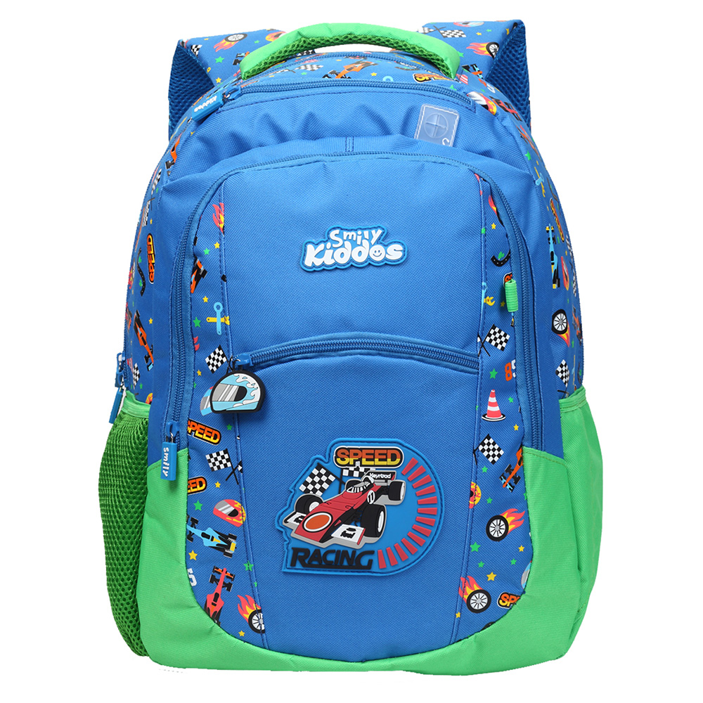 Smily Dual Color Backpack - Blue