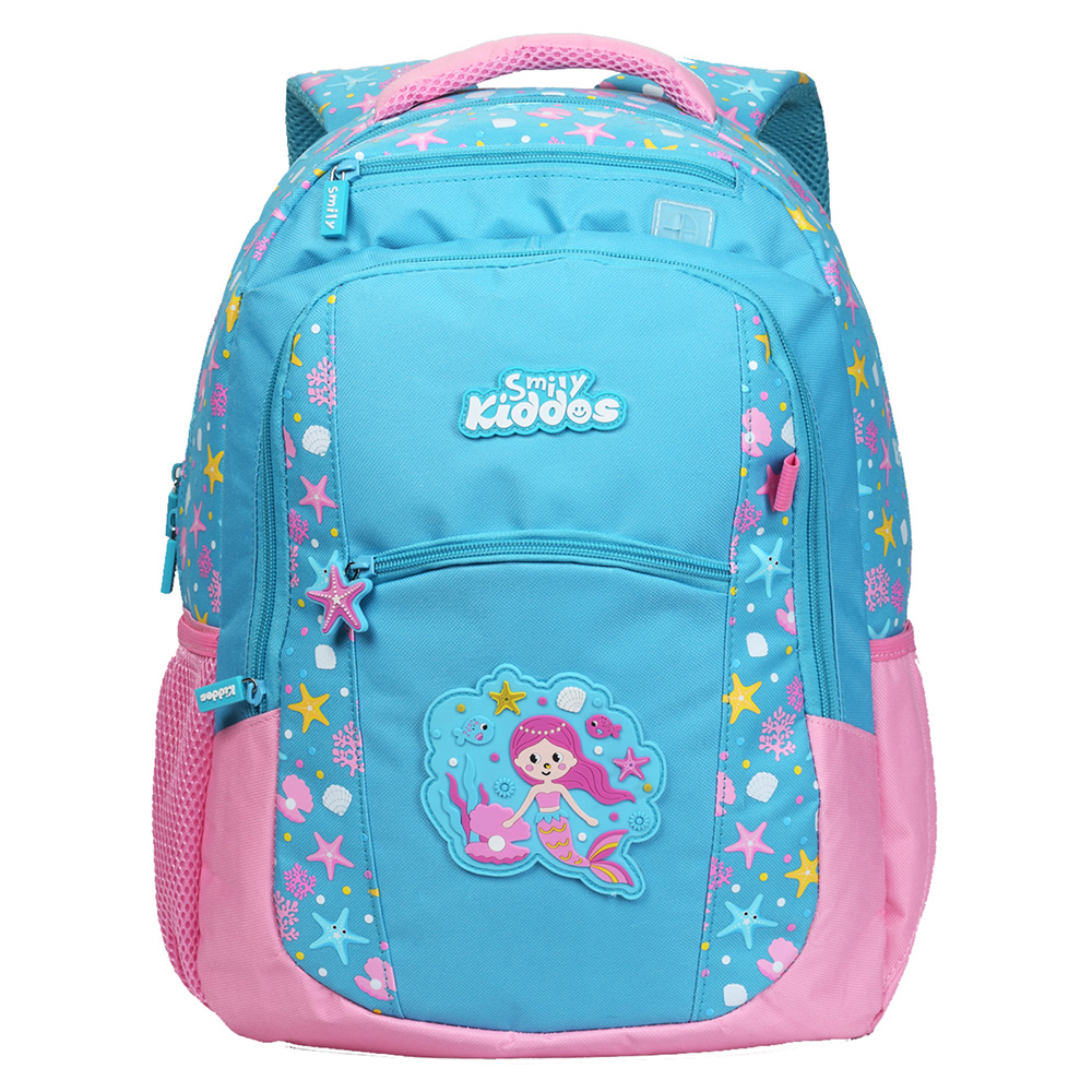 Smily Dual Color Backpack - Light Blue