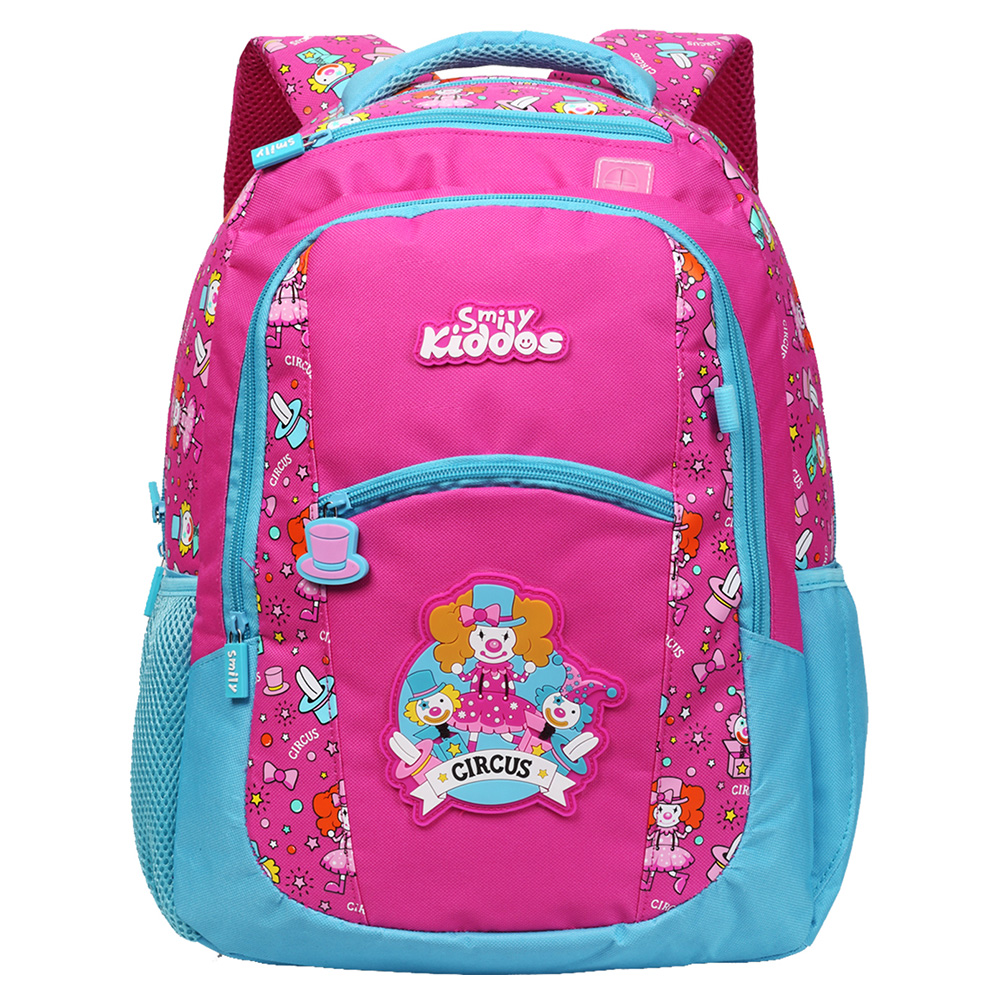 Smily Dual Color Backpack - Pink