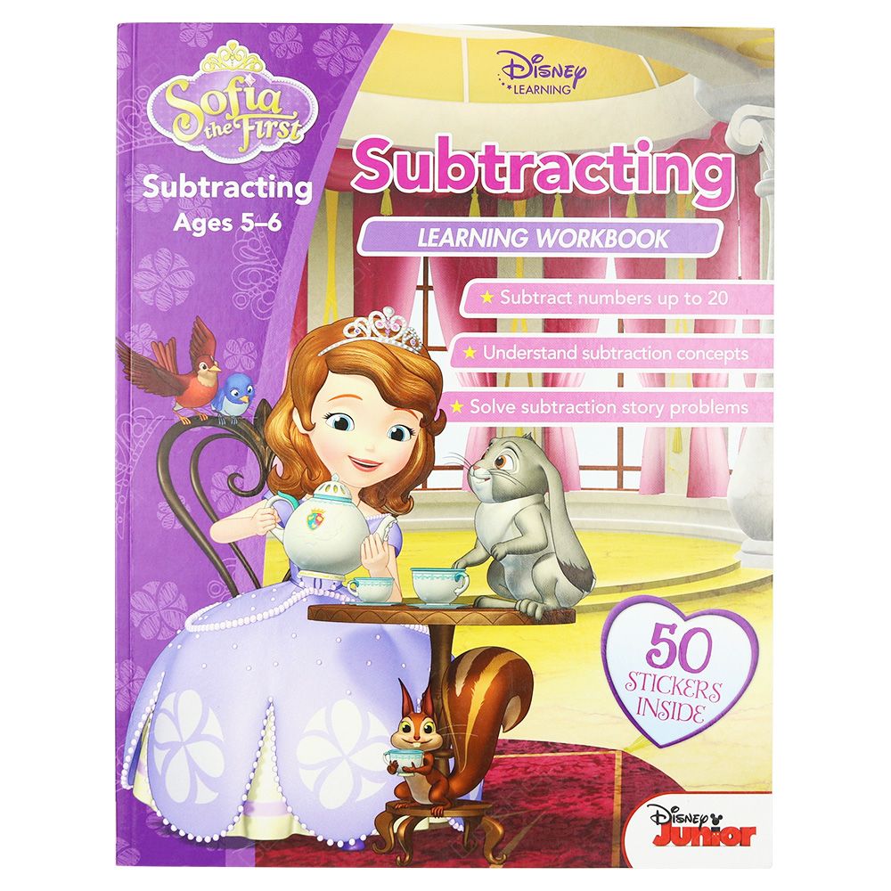 Sofia The First - Subtracting Learning Workbook Ages 5-6