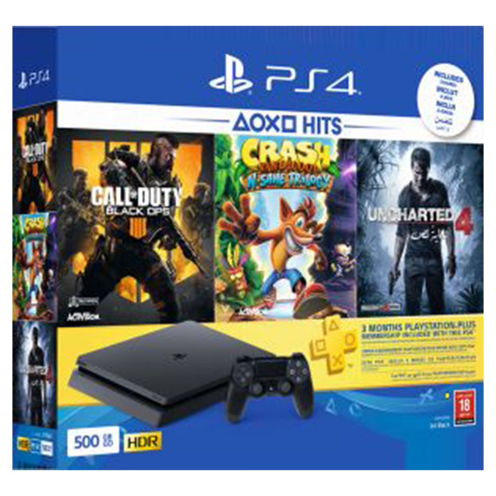 Sony PlayStation 4 1TB Console With 2 Games - PS4/1TBSLIMCODCT