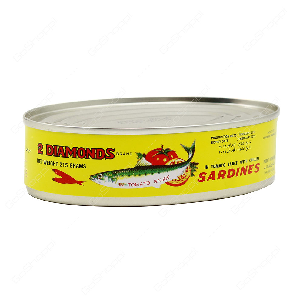 2 Diamonds Sardines In Tomato Sauce With Chillies 215 G