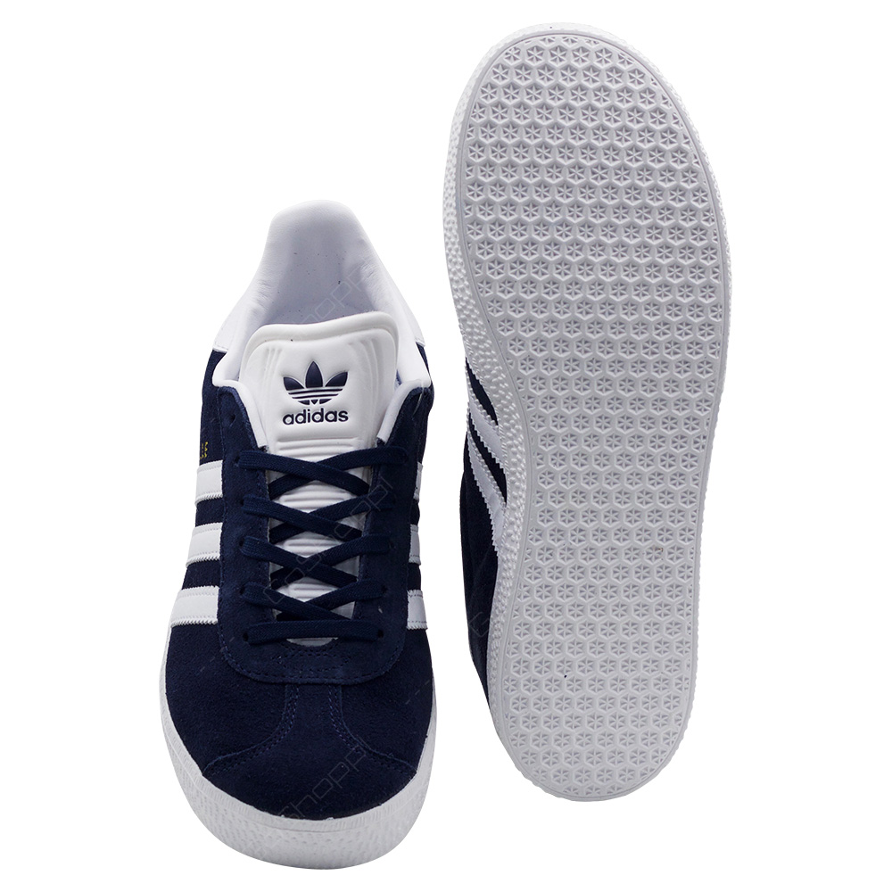 best loved 42803 09803 ... Adidas Originals Gazelle J Shoes For Kids Unisex - Navy - White -  BY9144 ...