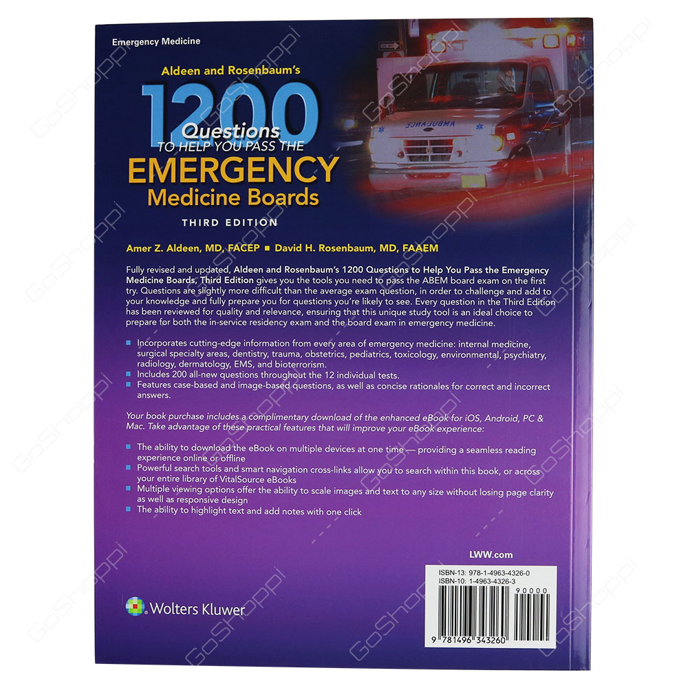 Aldeen And Rosenbaum Aldeen And Rosenbaum Aldeen And Rosenbaum. Aldeen And  Rosenbaum's 1200 Questions To Help You Pass The Emergency Medicine Boards  ...