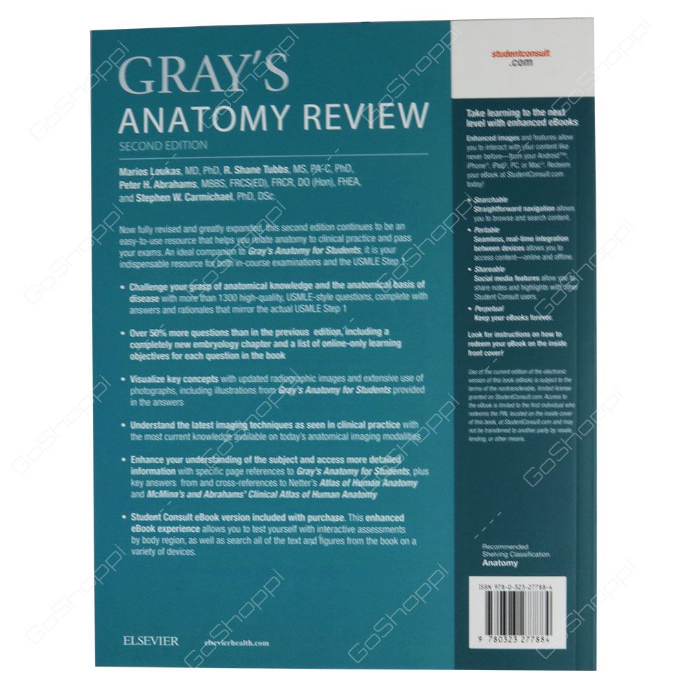 Grays Anatomy Review By Marios Loukas Buy Online