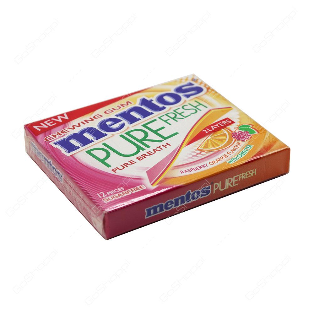 Mentos Pure Fresh Pure Breath 2 Layers Raspberry Orange Flavour 12 ... ebe8730cd84