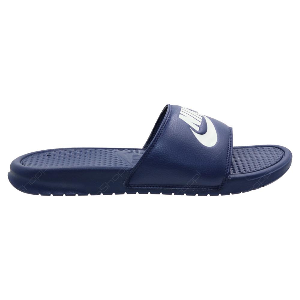 0c1a49c639f505 Nike Benassi JDI Slides For Men - Midnight Navy - Windchill - 343880 ...