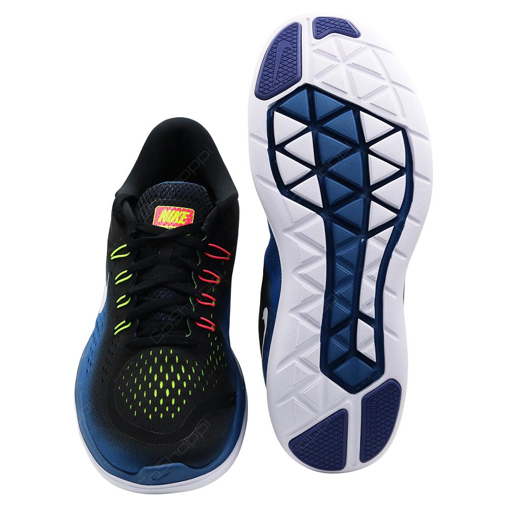 85d48b331dda ... Nike Flex 2017 RN Running Shoes For Men - Black - White - Industrial  Blue ...