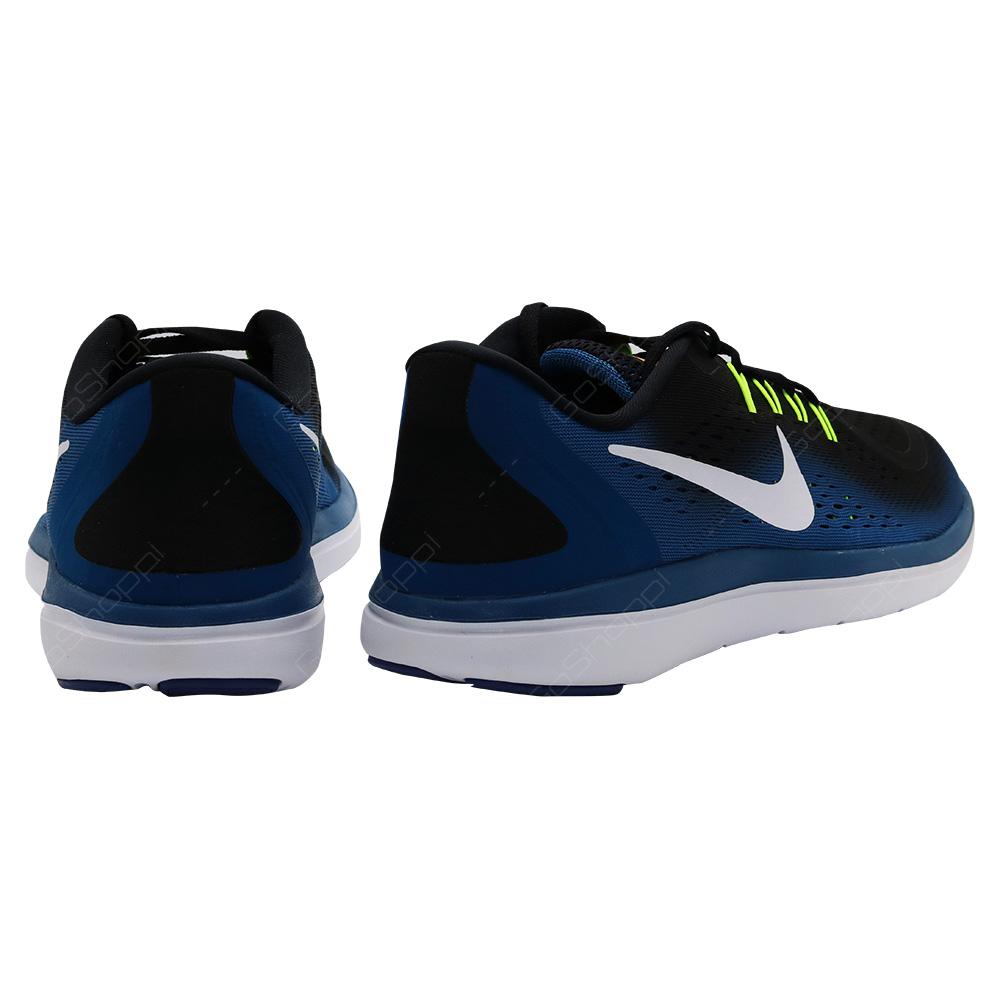 ... Nike Flex 2017 RN Running Shoes For Men - Black - White - Industrial  Blue - b0625ccce