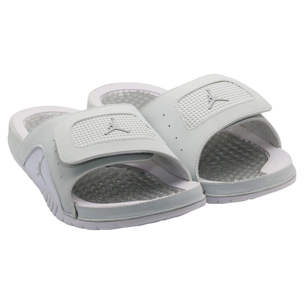 8e5cd69b2 ... Nike Jordan Hydro 4 Retro Sliders For Men - Off White - Metallic Silver  - 532225 ...