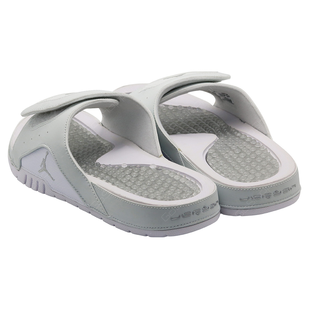 1c9d8f6f9 ... Nike Jordan Hydro 4 Retro Sliders For Men - Off White - Metallic Silver  - 532225