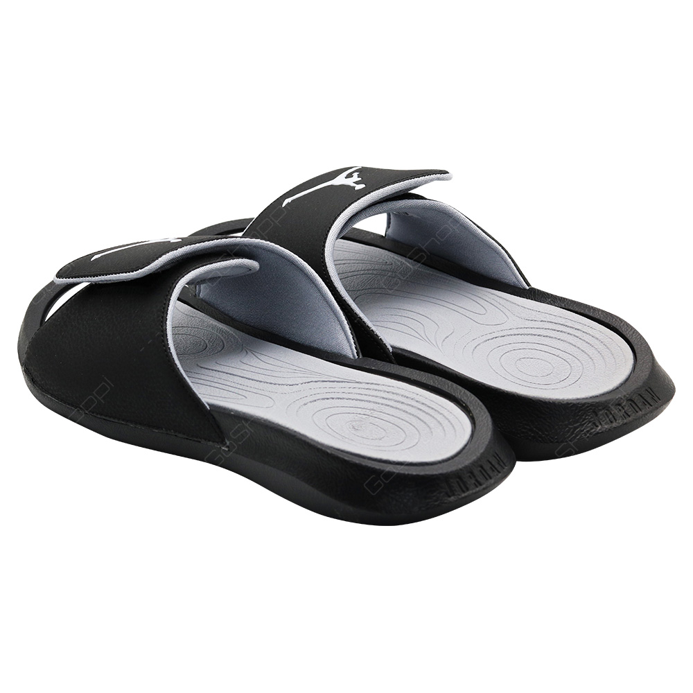 0a041cc25cc75 ... Nike Jordan Hydro 6 Slides For Men - Black - White-Wolf Grey - 881473