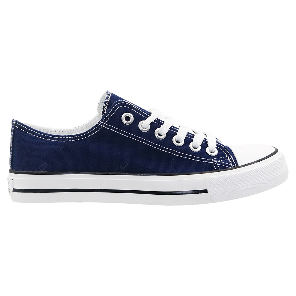 1673ac2c9d4 Old Star Lace Up Canvas Shoes For Men - Navy - CV03NVY - Buy Online