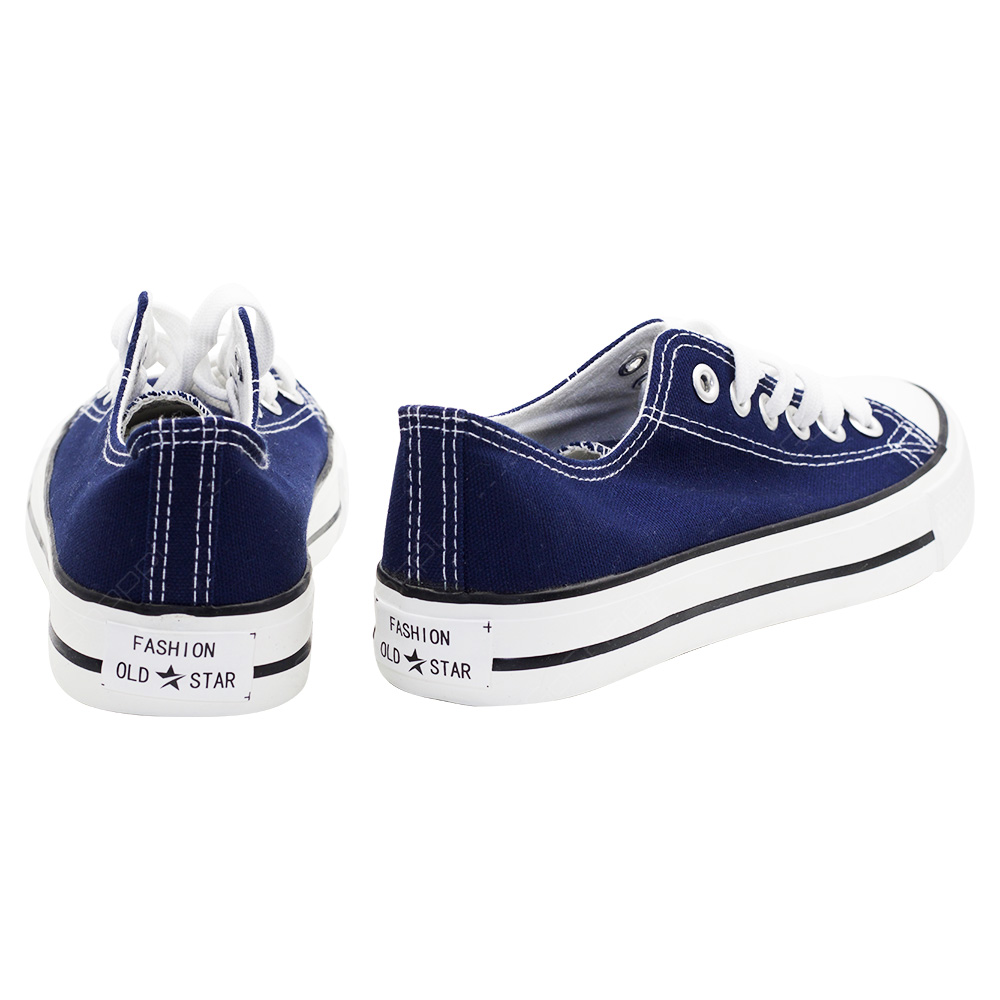 1bbb5f77e8f Old Star Lace Up Canvas Shoes For Men - Navy - CV03NVY - Buy Online
