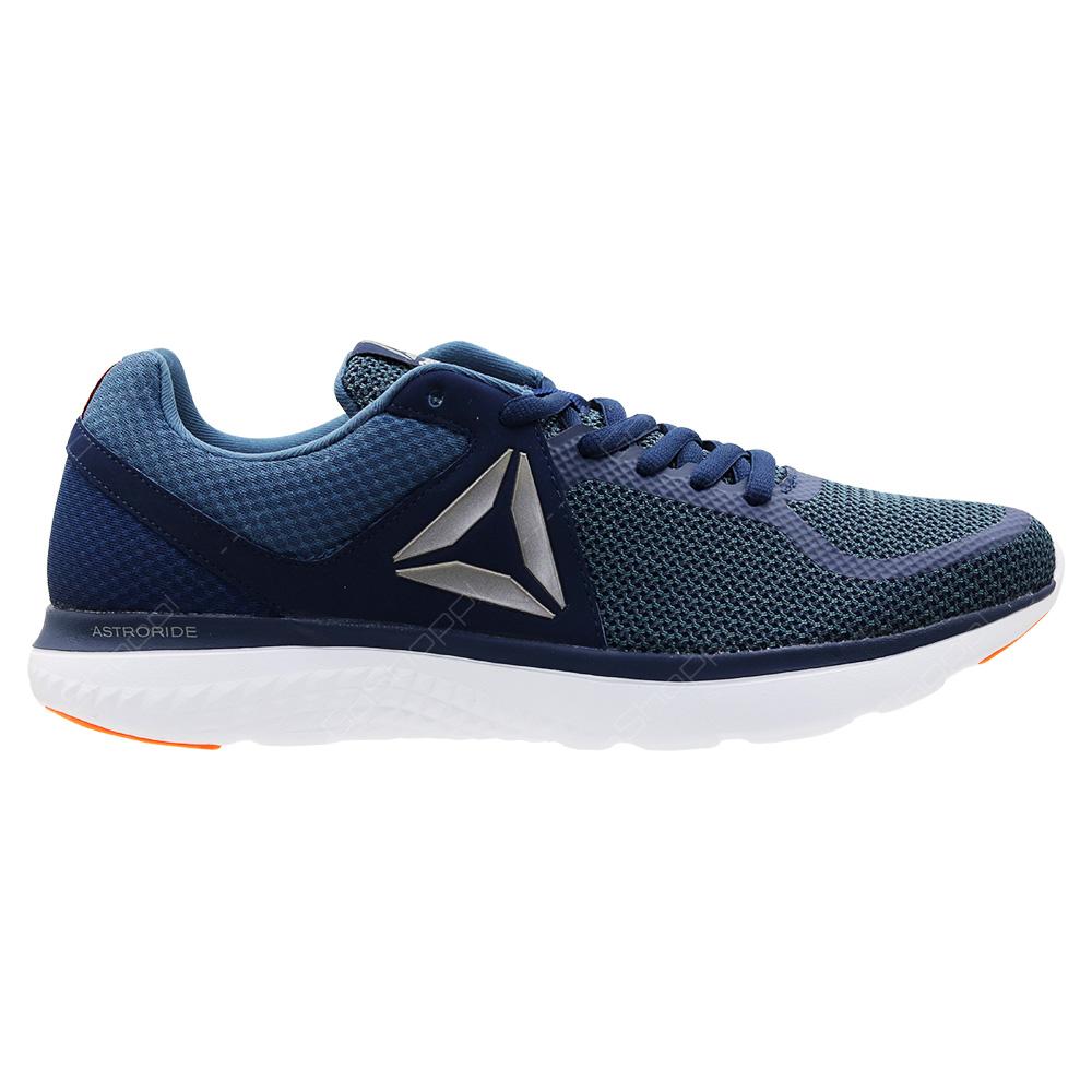 Reebok Astroride Run Running Shoes For Men - Navy - Blue - White - Orange - d42bd8e95
