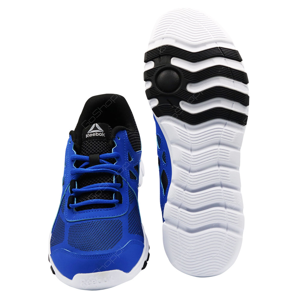 3e7afca685b ... Reebok Sublite Train 4 Training And Entertainment Shoes For Men - Awesome  Blue - Black ...
