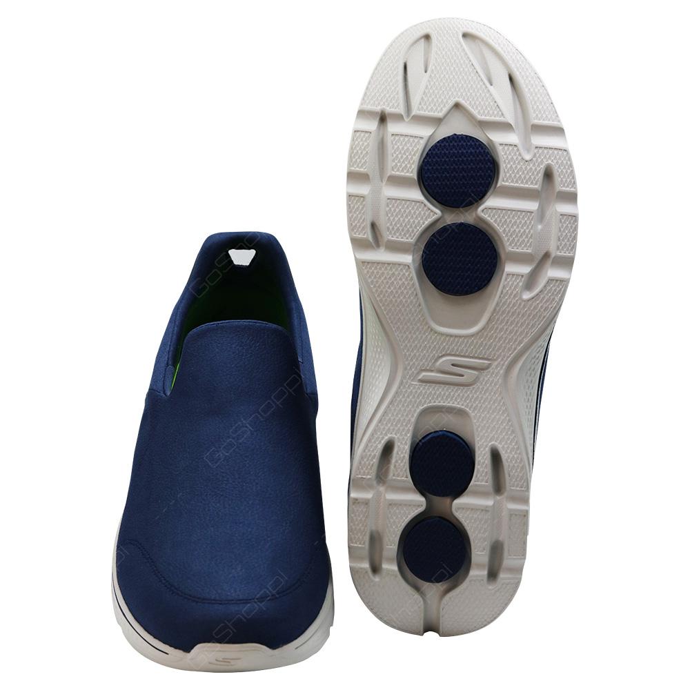 ... Skechers Go Walk 4 Remarkable Walking Shoes For Men - Navy - Grey - 54154NVGY ...