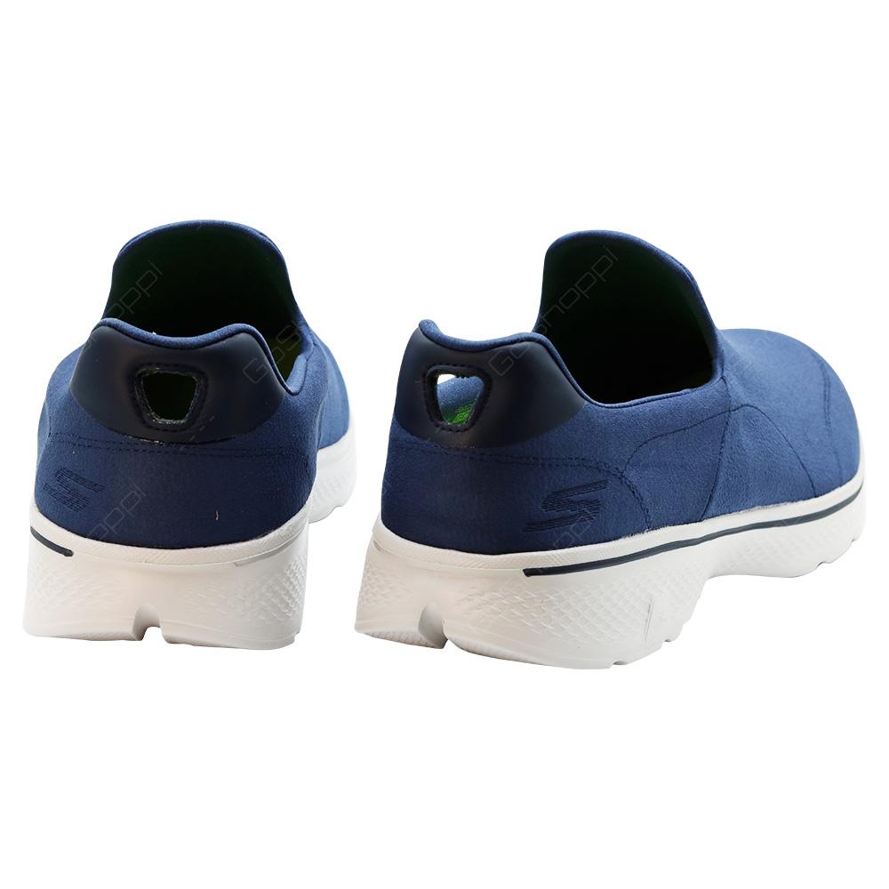 ... Skechers Go Walk 4 Remarkable Walking Shoes For Men - Navy - Grey - 54154NVGY