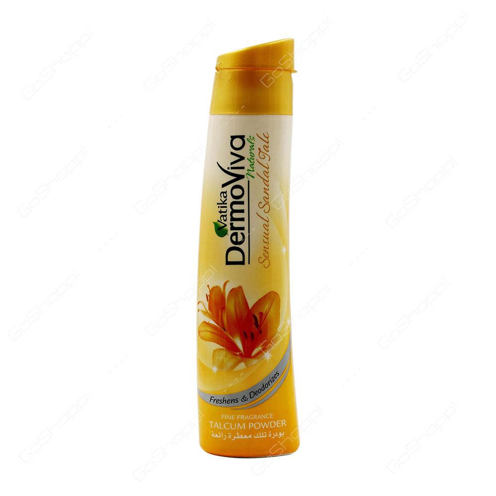 Vatika Dermoviva Sensual Sandal Talc 125 G Buy Online Enchanteur Perfumed Alluring 200a