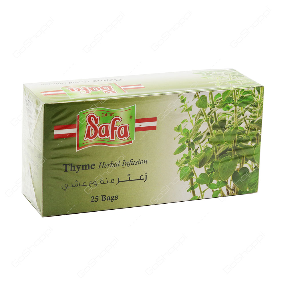 Zahrat Safa Thyme Herbal Infusion Tea Bags 25