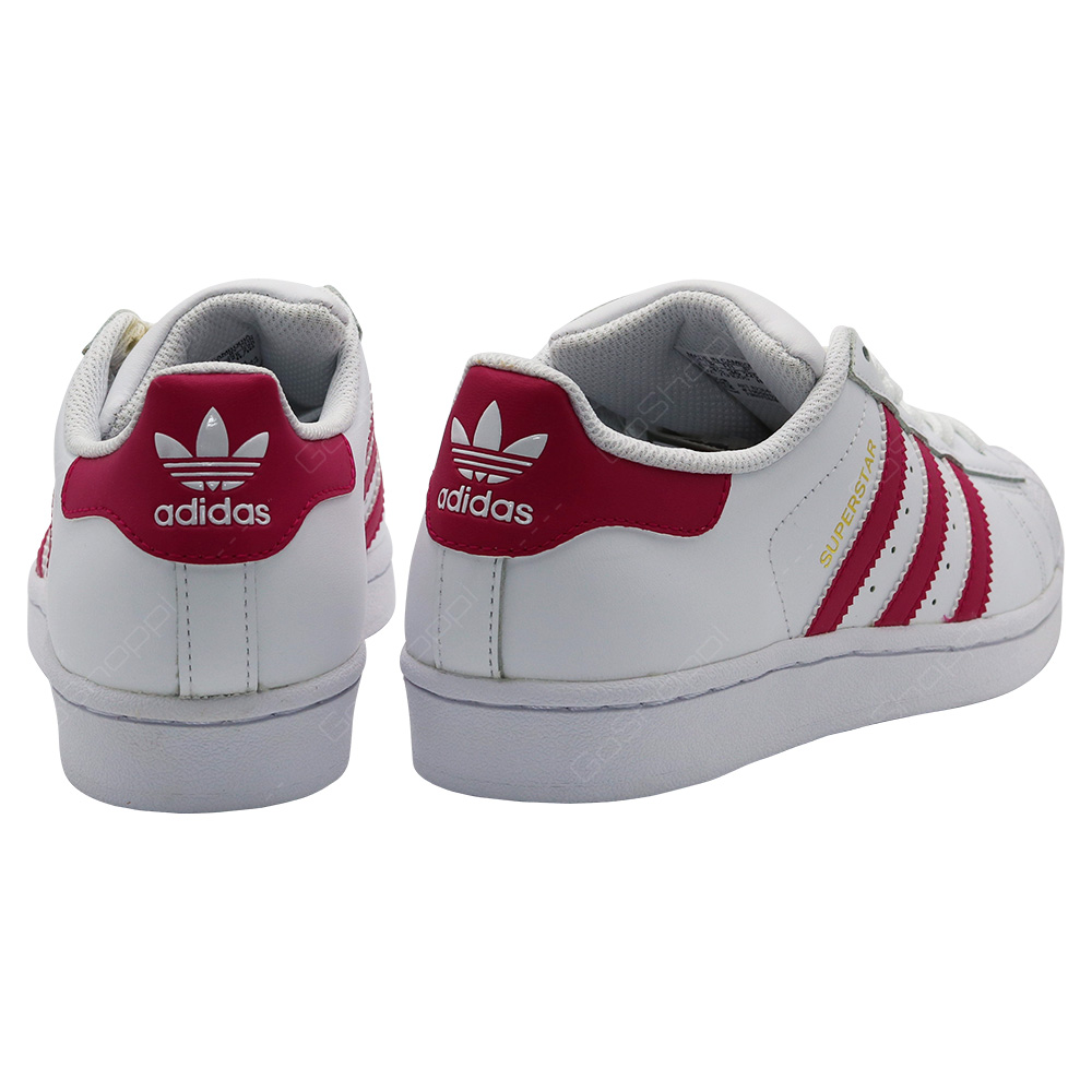 premium selection 57be6 3bd81 Adidas Originals Superstar Shoes For Girls - White - Pink ...