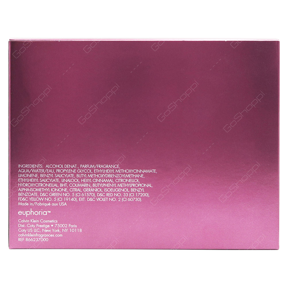 Calvin Klein Euphoria For Women Eau De Parfum 100ml